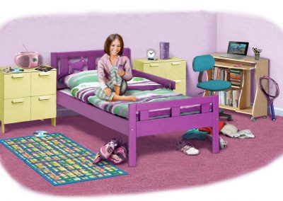 Illustration of teenage girl's bedroom