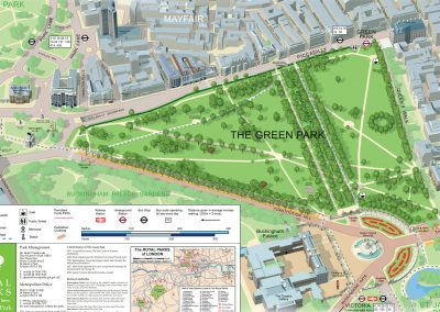 3D map of Green Park, London