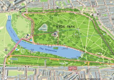 Hyde Park Map, London